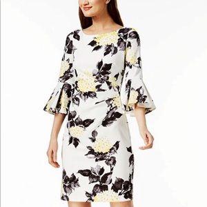 Jessica Howard Floral Bell Sleeve Dress